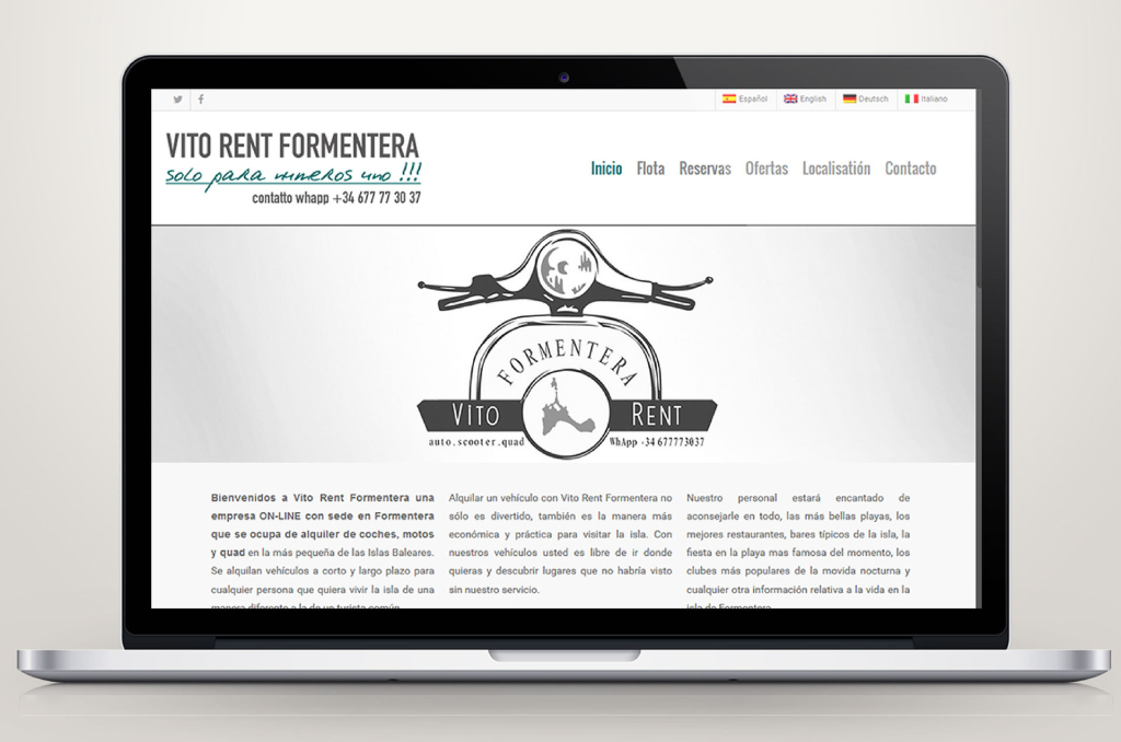 Site Web - Vito Rent Formentera